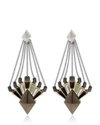 Eddie Borgo - Metallic Horus Drop Earrings - Lyst