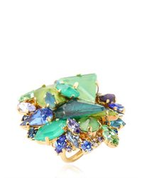 Erickson Beamon | Green Girls On Film Ring | Lyst