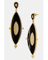 Freida Rothman | Black Marquise Drop Earrings | Lyst