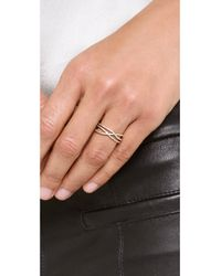 Jacquie Aiche - Metallic Pave Triple Row Eternity Ring - Lyst