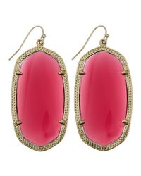 Kendra Scott - Pink Goldplated Danielle Earrings Berry - Lyst