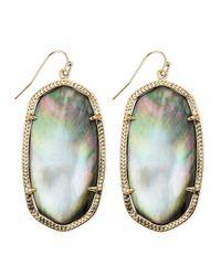 Kendra Scott | Metallic Goldplated Danielle Earrings Black | Lyst
