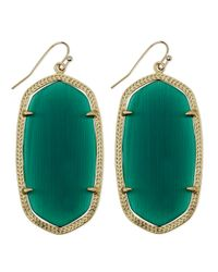 Kendra Scott - Goldplated Danielle Earrings Emerald Green - Lyst