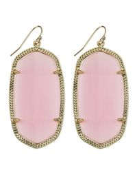 Kendra Scott | Goldplated Danielle Earrings Pink | Lyst