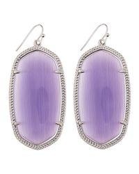 Kendra Scott - Rhodium Danielle Earrings Purple - Lyst