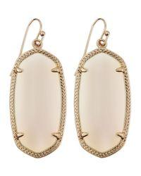 Kendra Scott - Pink Goldplated Elle Earrings White - Lyst