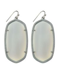 Kendra Scott - Gray Rhodium Danielle Earrings White - Lyst
