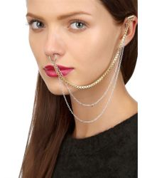 Maria Francesca Pepe - Metallic Never Is A Promise Piercing Ear Cuff - Lyst