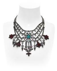 Mawi | Black Deco Glam Triangle Necklace | Lyst