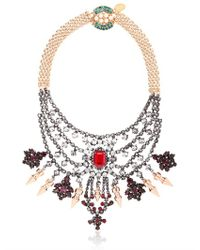 Mawi - Metallic Deco Glam Triangle Necklace - Lyst