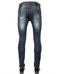 Philipp Plein - Blue Jason Stretch Cotton Denim Jeans for Men - Lyst