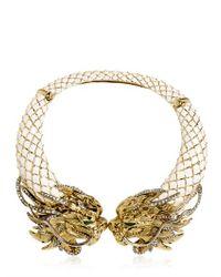 Roberto Cavalli - White Swarovski Dragon Necklace - Lyst