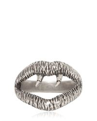 Saint Laurent | Metallic Silver Vampire Ring for Men | Lyst