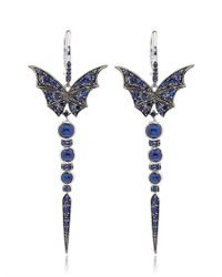 Stephen Webster - Blue Fly By Night Batmoth and Quiver Earrings - Lyst