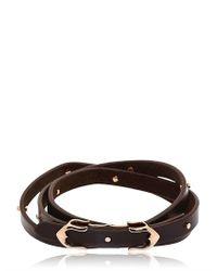 Stephen Webster - Brown Rayskin Texture 3 Wrap Bracelet for Men - Lyst
