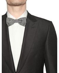 Z Zegna | Gray Silk Moire Jacquard Bow Tie for Men | Lyst