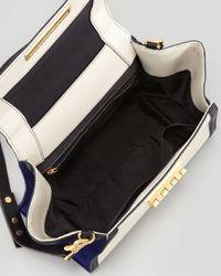 Zac Zac Posen | White Eartha Colorblock Halfflap Satchel Bag Azure | Lyst