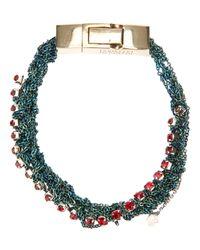 Arielle De Pinto - Red Crochet Chain Bracelet - Lyst