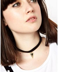 ASOS | Black Limited Edition Triangle Choker Necklace | Lyst