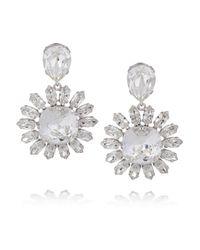 Dolce & Gabbana - Metallic Natale Palladiumplated Swarovski Crystal Clip Earrings - Lyst