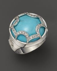 Elizabeth Showers | Metallic Sterling Silver and Turquoise Maltese Canopy Ring | Lyst