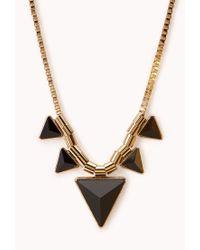Forever 21 - Metallic Modernist Geo Necklace - Lyst