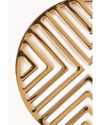 Forever 21 - Metallic Mod Chevron Earrings - Lyst