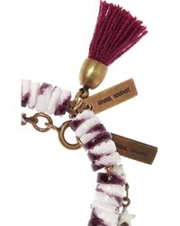 Isabel Marant - Red Hoshi and Fuji Set Of Two Bracelets - Lyst