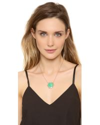 Jacquie Aiche - Green Pave Large Hexagon Bezel Necklace - Lyst