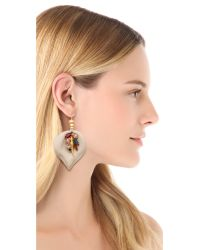 Lizzie Fortunato - White First Hot Summer Night Earrings - Lyst