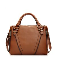 Marc New York - Brown Adrienne Satchel - Lyst