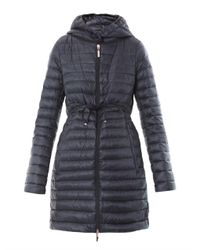 Moncler - Blue Barbel Down Parka - Lyst