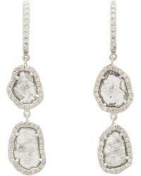 Monique Pean Atelier - Diamond White Gold Twotier Drop Earrings - Lyst