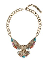 TOPSHOP | Metallic Eagle Stone Necklace | Lyst