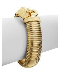 1ar | Metallic Ribbed Snake Bracelet | Lyst