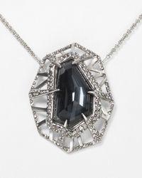Alexis Bittar | Metallic Delano Rhodium Short Deco Pendant Necklace 16 | Lyst