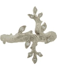 Cathy Waterman | Metallic Pavé Diamond Platinum Leaf and Branch Ring | Lyst