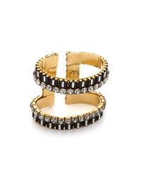 Erickson Beamon | Metallic Gold-Plated Swarovski Crystal Cuff | Lyst