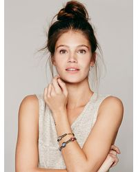 Free People - Multicolor Stone and Mixed Chain Double Bracelet - Lyst