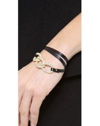 Gorjana - Black Parker Shimmer Leather Wrap Bracelet - Lyst