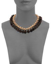 Saks Fifth Avenue | Black Trumpet Charm Necklace | Lyst