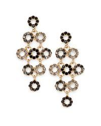 Saks Fifth Avenue - Multicolor Circle Chandelier Earrings - Lyst