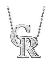 Alex Woo | Metallic Mlb Collection By Sterling Silver Colorado Rockies Pendant Necklace | Lyst