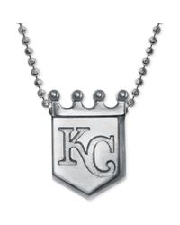 Alex Woo - Metallic Mlb Collection By Sterling Silver Kansas City Royals Pendant Necklace - Lyst
