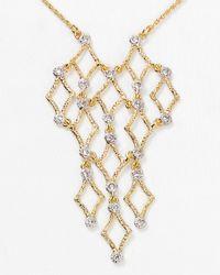 Alexis Bittar - Metallic Crystal Studded Mesh Pendant Necklace 16 - Lyst