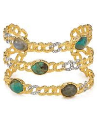 Alexis Bittar | Metallic Elements Mosaic Aquamarine Cuff | Lyst