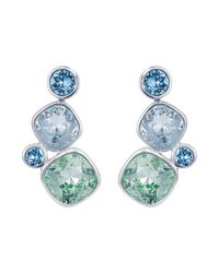 Aurora - Blue 18ct White Gold Plated Kailua Earring - Lyst