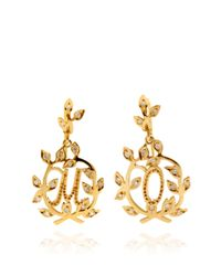 Natasha Zinko | Metallic Customizable 18k Gold and White Diamond Letter Earrings | Lyst