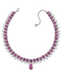Swarovski - Purple Spectacular Collar - Lyst