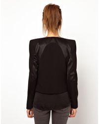 2nd Day - Black Sharp Shoulder Jacket with Contrast Panels - Lyst